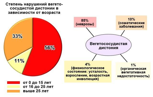 процент ВСД среди взрослых и детей