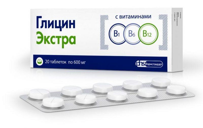 Глицин Экстра с витаминами группы В инструкция по применению